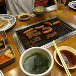 利鳳園 - ウインナー、ハラミ、ミノ・キムチわかめスープ・やきめしなど発注