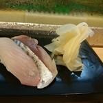 浅草すし若 - カンパチしめ鯖