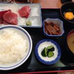 浅草 魚料理 遠州屋 - まぐろぶつ定食  土曜日は日替わり扱いになるため@700円