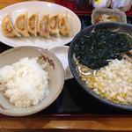 ぷらんたん - ワカメタンメン 餃子せっと¥1080