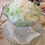 枝 - 料理写真:宇治茶かき氷♪昔ながらのかき氷♡