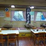 みやこや - 定食屋さん兼用の広間で食事をとります。