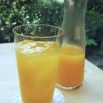 廚菓子くろぎ - ノンカフェインはオレンジジュースのみ