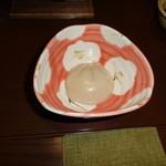 珠玉や - 胡麻豆腐ゴマダレ