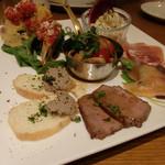 TRATTORIA Alioli - 前菜盛り合わせ(1,490円)
