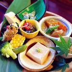 29444825 - 里山御膳(1200円)のお惣菜盛り合わせ