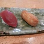 心寿司 - 鮪と稲荷寿司