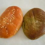 パンやきどころ RIKI - クリームパン140円♪抹茶クリームパン160円♪