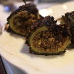 サプナ - ストッククレラゴーヤの中にマトンの挽肉を詰めて焼いた物