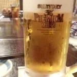 押上よしかつ - 「生ビール(中)」(630円)