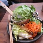 しゃぶしゃぶ温野菜 - 最初の野菜盛り