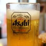 たこ焼道楽 わなか - 生ビール450円