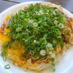 Sarichan - お好み焼うどんネギチーズ