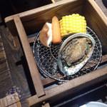 29451694 - せいろ蒸し あわびと旬野菜
