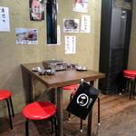 焼肉ホルモン せいご - 昔懐かしいガスコンロのある昭和の雰囲気