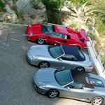 La Chevre d'Or - ホテルの駐車場には、こんな車ばかり・・・