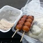 五庄屋 - 料理写真:わらび餅、みたらし、いきなり団子