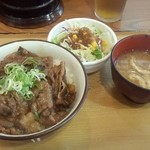 ひの家 - カルビ丼サラダセット