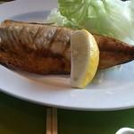定食家 - 塩鯖焼定(800円)の焼き鯖
