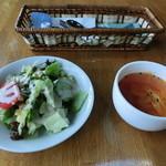 カフェレスト スプレッド イーグル - セットのサラダとスープ