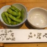 田楽 - お通しの枝豆はプリプリ