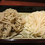 29464718 - お蕎麦とうどんの合い盛り1700円。