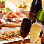 海の厨 膳丸 - スパークリングワインに、海鮮スモーク&ハムのプラッターが当店のオススメ!