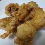 中国料理 洋明 - 鶏の唐揚げ(900円/葱ソース付き)2014年8月