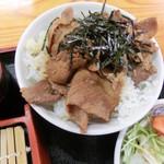 うどん福松 - 奥様の『ミニ丼セット』(肉丼)冷たいうどんで。750