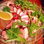 アフターザレイン - 合鴨のカルパッチョ、ふんわりと香る燻製の匂いがたまりません!