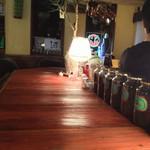 アフターザレイン - 店内カウンター、コーヒーや紅茶もあり、特に嬉野紅茶は香りがよく、癒されます!