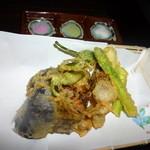 日本酒×和創作料理 香酒 鞘 - 旬野菜の天婦羅と3種の塩