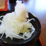 蕎麦 香寿庵 - 大根おろしは少し残念・・・。しかし蕎麦湯に入れるといい感じ(^^)