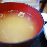 蕎麦 香寿庵 - 丼のみそ汁