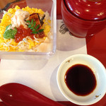岡山甲羅本店 - チラシ寿司と吸い物