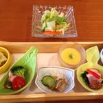 岡山甲羅本店 - 前菜、サラダ