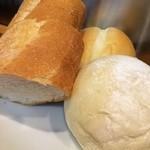ロス・シティオス - つきだしのパン白いパンふかふか〜♥︎