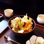 29479114 - 天丼。海老が食べられないので、タコに変更♪