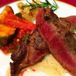 ファームイン - 和牛のステーキはとても柔らかくて、イタリアンテイストのお味はあとを引いて幾らでも食べられそうでした。