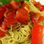 ファームイン - 契約農家からの新鮮なトマトは甘みたっぷりで、バジルも自家栽培の新鮮バジルソースを使った冷製バジルのカッペリーニのお味は最高でした。