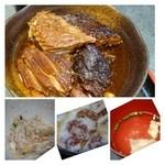 Maguroryourikibun - あら炊きはかなり濃い目のお味付。骨だらけですが身には脂も乗っています