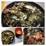Maguroryourikibun - 鉄火丼(並:700円)・・鉄火丼とお吸い物のセットです。             海苔に隠れてマグロが見えませんけれど、タップリ入っていました。