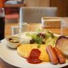ダイニング・カフェ アレッタ - 料理写真:モーニングメニュー、Bのふわとろオムレツとアイスコーヒー全景
