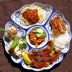 カフェくるくま - ディナープレート Bセット(魚の照り焼きプレート スープ付)