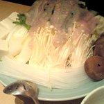 とらふぐ亭 - アラ投入後の皿