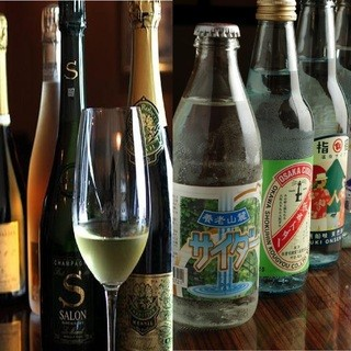 ワインとシャンパンとサイダー