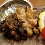 鮨処 竜敏 - あわび バター焼き