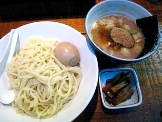 麺処 井の庄 立川 - つけ麺味玉(全体)