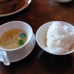 雅秀殿 - ランチスープ・ライス (2012.1)