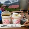 常念小屋 - 料理写真:遅めの朝食